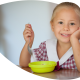 Child having a meal